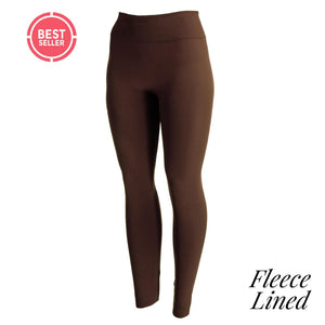 Fleece lined Brown leggings