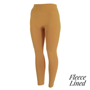 Fleece lined Mustard leggings