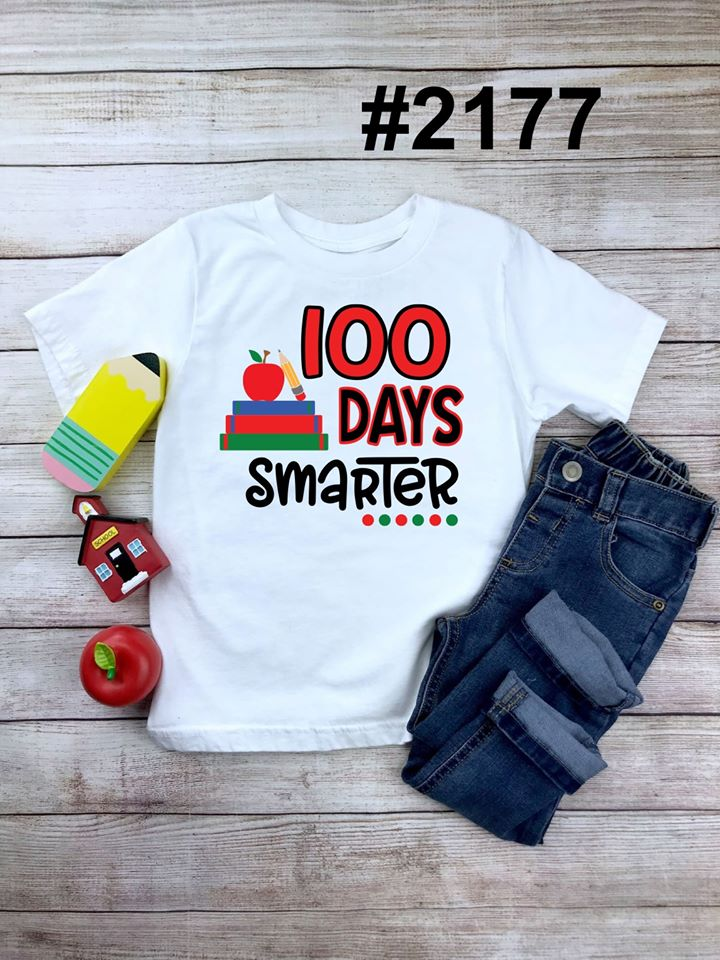 100 days smarter! KIDS sizes (short and long sleeve)