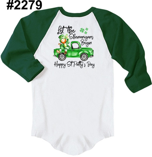 Shenannigans RAGLAN (other colors and kids sizes available)