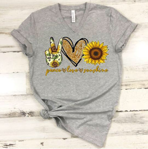 Peace Love Sunshine (more colors and Hoodie! available)
