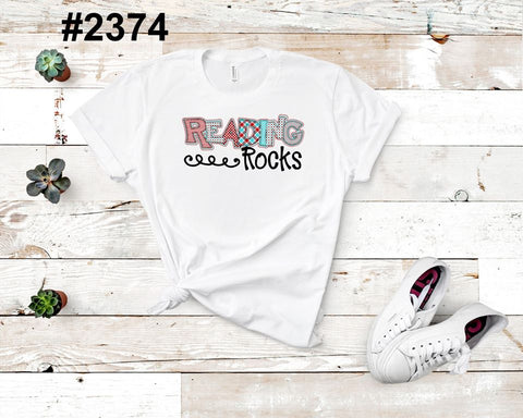Reading rocks (kids, Raglan & more colors available)