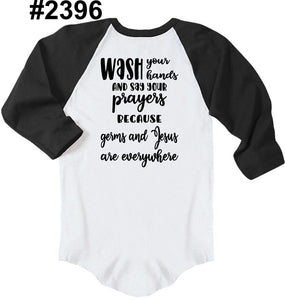Wash your hands and say your prayers (available in RAGLAN too!)
