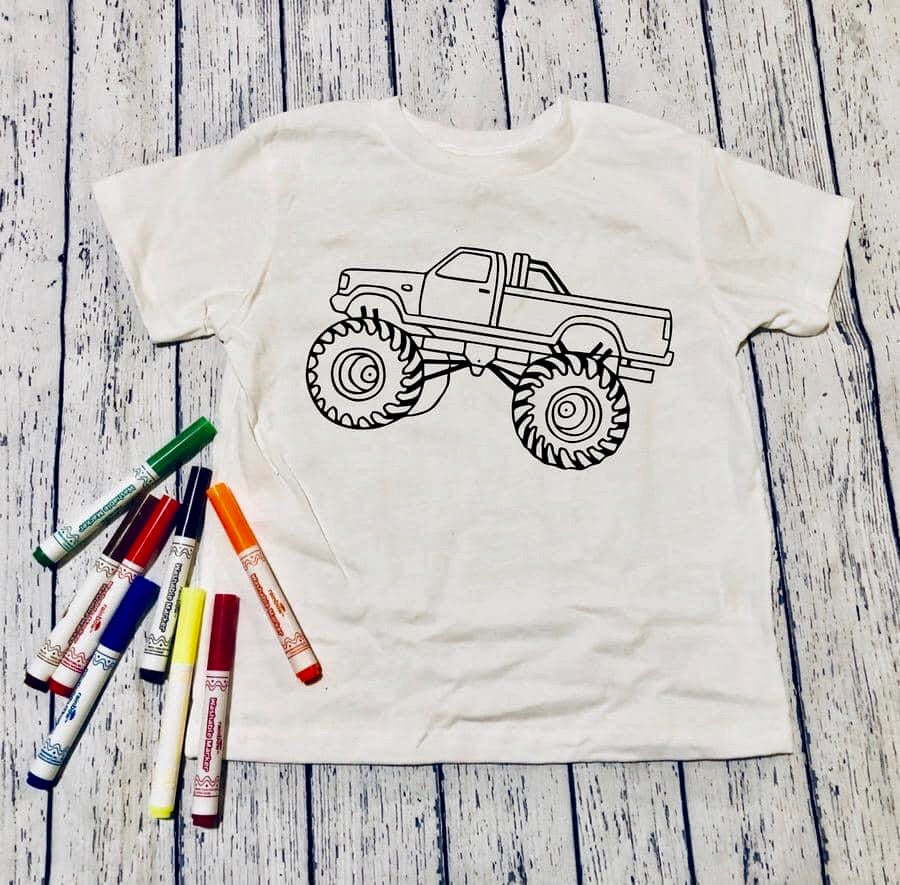 Color it truck (kids & Raglan available)