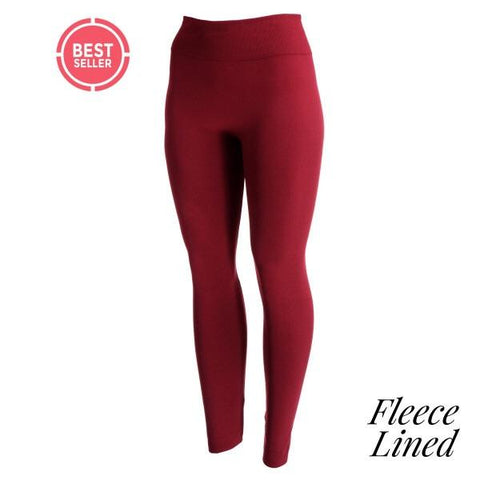 Fleece lined Burgundy leggings