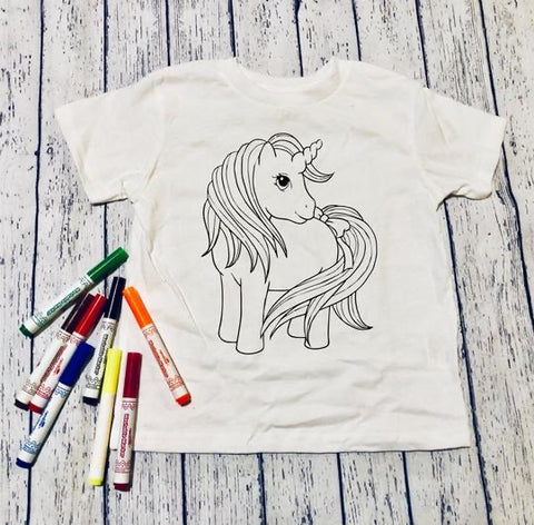 Color it Unicorn 🦄 (kids & Raglan available)