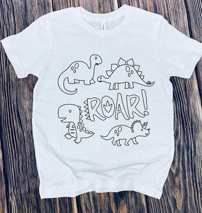 Color it dinosaurs 🦕 (kids & Raglan available)