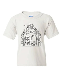 Gingerbread house🏠Color it! (kids & Raglan available)
