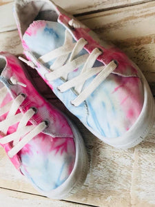 Pink Tie-Dye sneakers IN Stock ready to ship