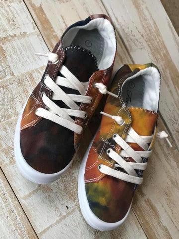 Dark Tie-Dye sneakers IN-STOCK Ready to ship!