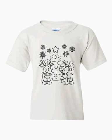 Reindeer and snow❄️Color it!(kids & Raglan available)