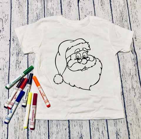 Santa🎅🏽Color it!(kids & Raglan available)
