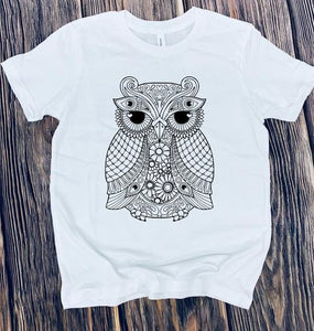Color it🦉(kids & Raglan available)