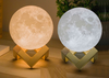 3D Night Light Moon Lamp-yellow and white moon side by side with stand-The Exceptional Store