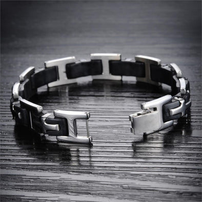 Cross Action Stainless Steel Bracelet-mens fashion men's bracelet-The Exceptional Store