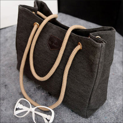 Denim Canvas Beach Bag-womens fashion women's purse-The Exceptional Store