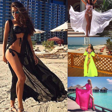 Elegant Swimsuit Cover Up-women's swimsuit bathing suit bikini cover up beach wear-The Exceptional Store