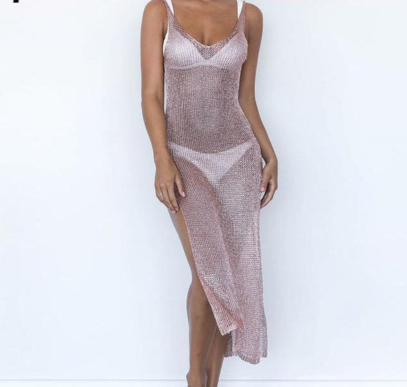 Sheer Swimsuit Cover Up-women bathing suit bikini beach dress-The Exceptional Store