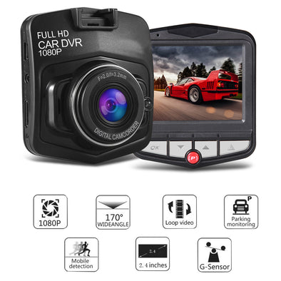 Dash Cam DVR 1080 HD-vehicle DVR camera video recorder car monitor full hd night vision-The Exceptional Store