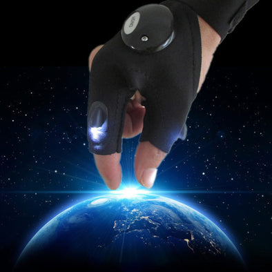 Flashlight Finger Gloves-glovelite fingerless led light glove men fishing hunting electrical plumbing mechanics-The Exceptional Store
