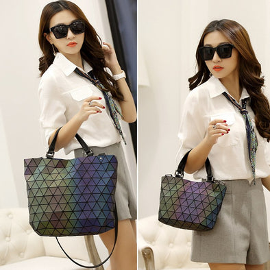 Luminous Black Diamond Handbag-purse women fashion clutch geometric woman pocketbook trendy hot new-The Exceptional Store
