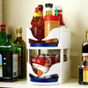 Rotating Kitchen Storage Caddy-cabinet pantry refrigerator organizer-The Exceptional Store