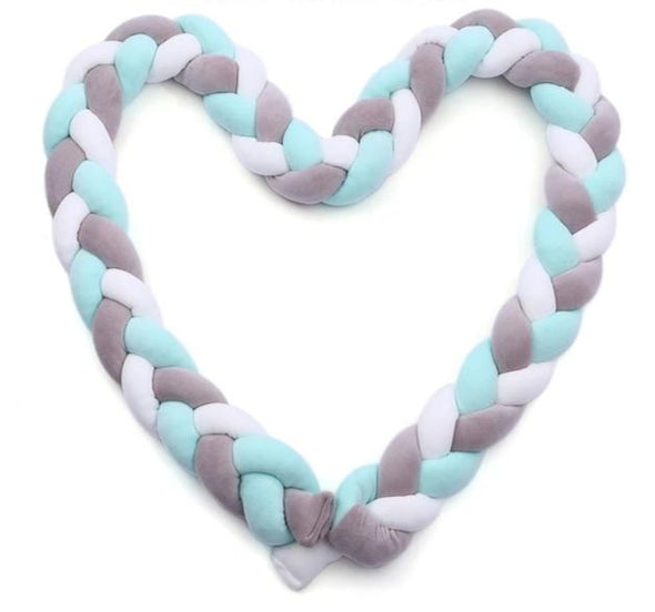 Braided Pillow Baby Crib Bumper-baby, babies, newborn, new mom, baby boy, baby girl, baby shower, gender reveal, pregnancy announcement, toddler, pregnant women, baby gifts, baby nursery, baby registry, baby shower gift ideas-The Exceptional Store