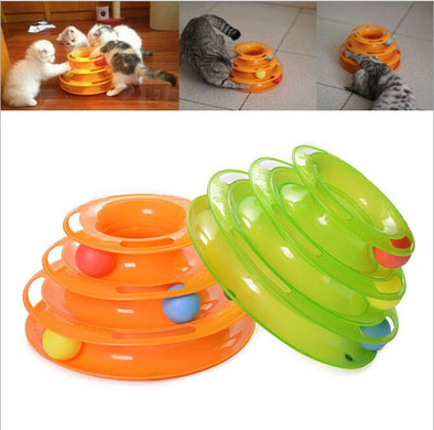 Triple Decker Cat Chase Toy-feline cat play toy-The Exceptional Store