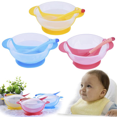 Suction Cup Baby Bowl-infant toddler babies learning feeding no spill dishes bpa free-The Exceptional Store