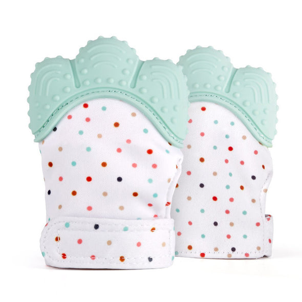 Baby Teething Glove-blue glove soothes teething gums-The Exceptional Store