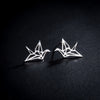 Origami Crane Earrings-women's jewelry womens earrings gold silver rose gold-The Exceptional Store