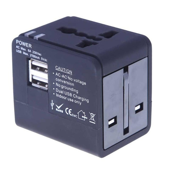 All In One Universal Power Adapter-Universal Power Adapter Black-The Exceptional Store