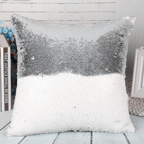 Sequin Mermaid Pillow Case-sequins cushion case home decor interior design-The Exceptional Store