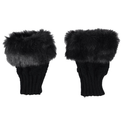 Elegant Faux Fur Gloves-women fur mittens mitts winter hand warmers-The Exceptional Store