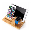 Apple Bamboo Charging Dock-bamboo charging station ipad iphone apple watch devices-The Exceptional Store