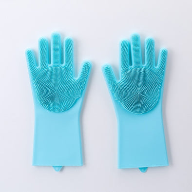 Magic Dishwashing Gloves-dish washing kitchen scrubber glove home cleaning cleaner clean dishes scrubbing silicone-The Exceptional Store