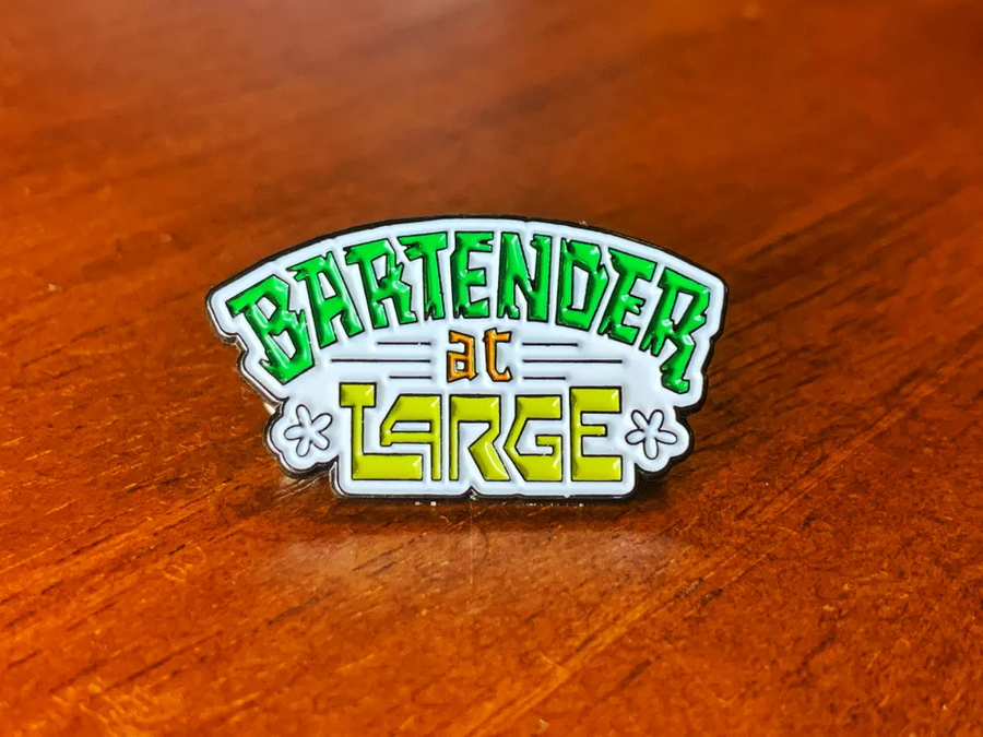 Bartender at Large Tiki Time Pin