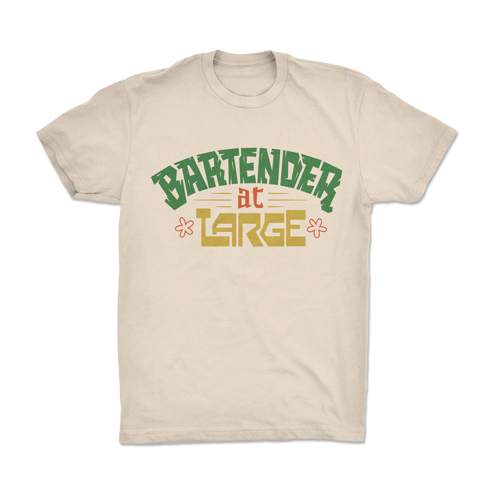Bartender at Large Tiki Time T-Shirt