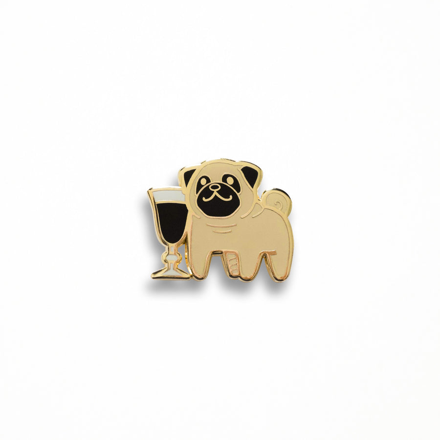 Pug Coffee Pin
