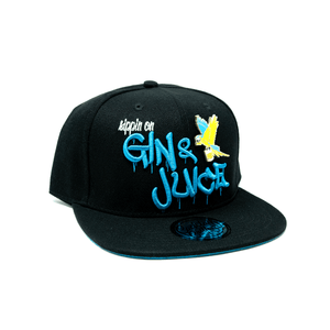 Gin & Juice Parrot Snapback Hat