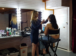 Behind the Scenes - Hair & makeup for our plus size fashion model.