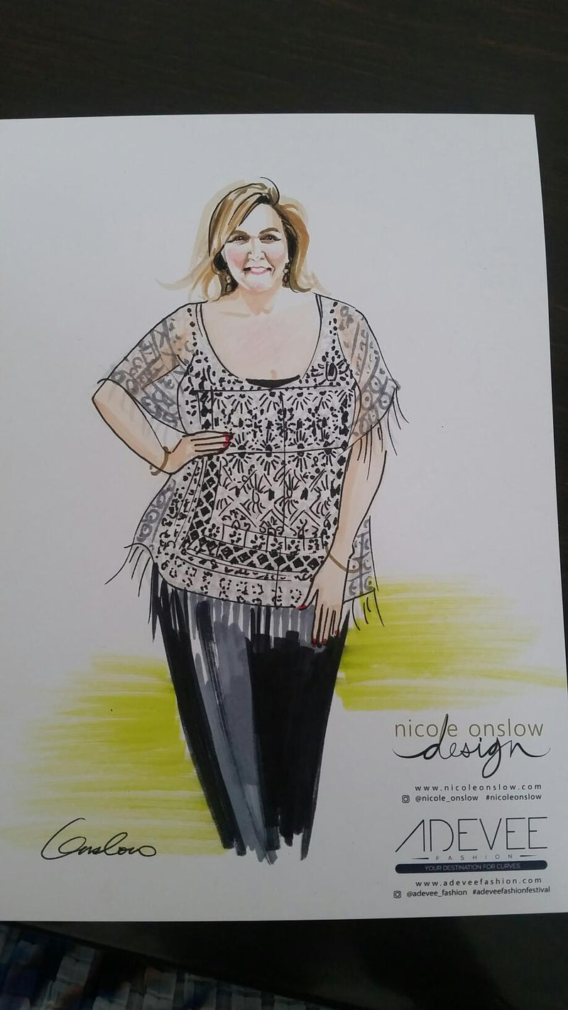 Behind the Scenes - Illustrations for our online Plus Size Fashion Boutique