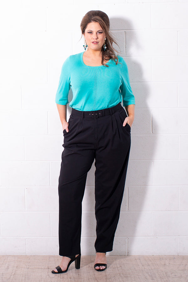 PLUS-SIZE FASHION - CICILIA TAILORED PALAZZO PANT