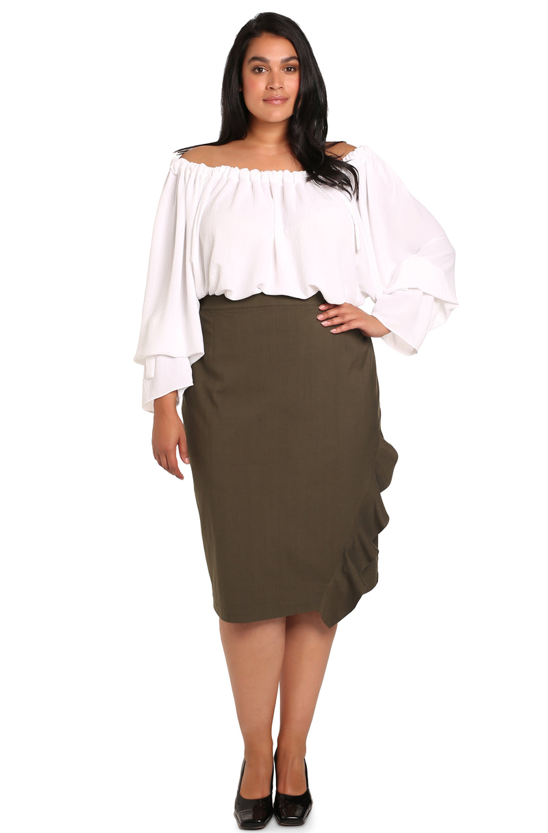 Plus-size skirts online: Assym Asymmetrical Skirt