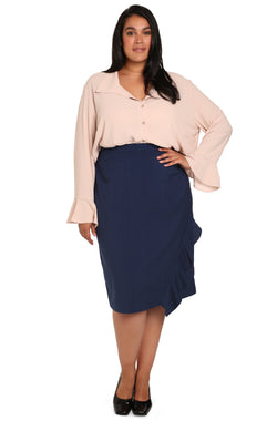 Women's plus-size clothing online: Assym Asymmetrical Skirt