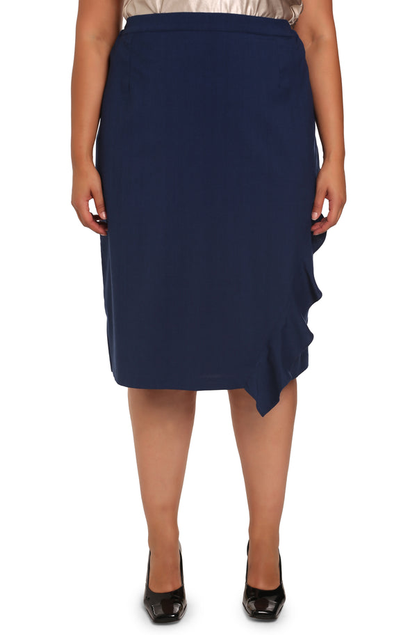 PLUS-SIZE CLOTHING - ASSYM ASYMMETRICAL SKIRT
