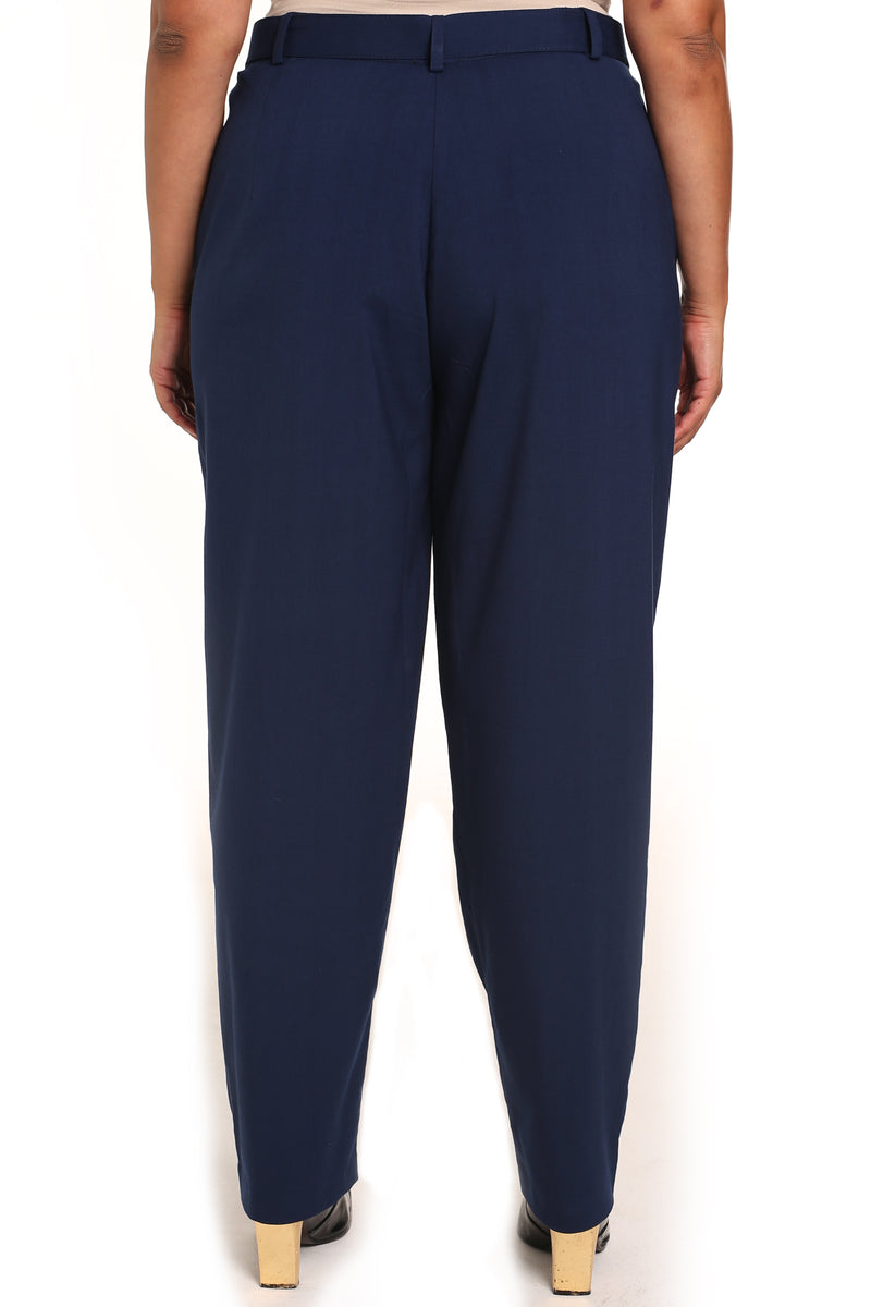 Women's plus-size pants: Cicilia Tailored Palazzo Trousers