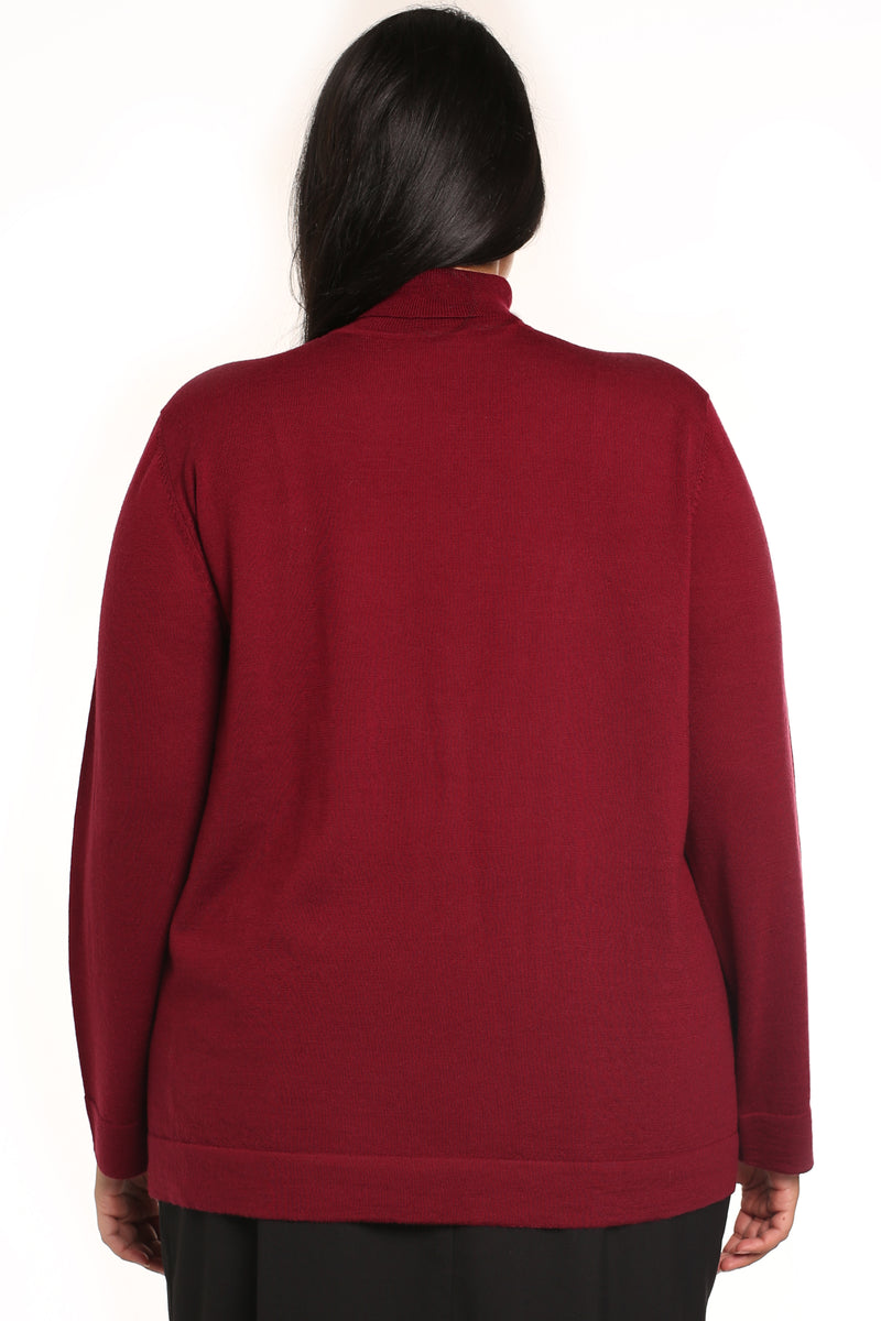 Plus-size turtle neck top: Fiora Turtle Neck Jumper