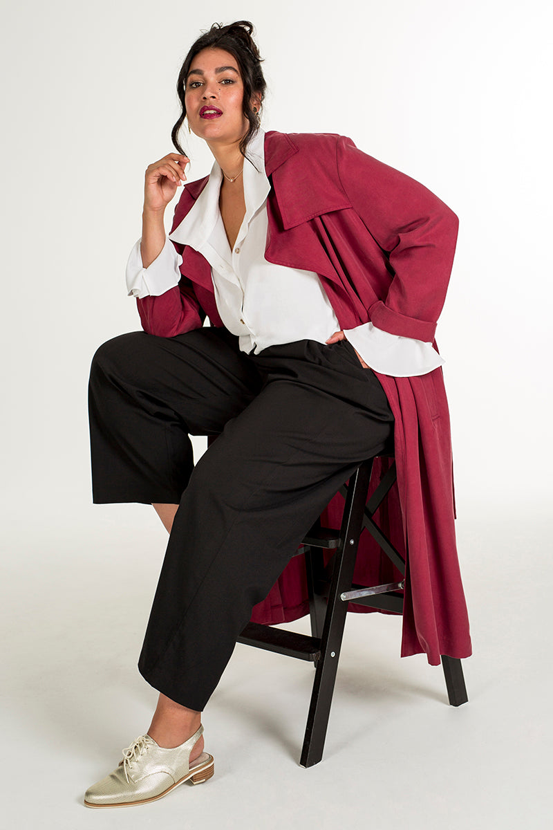 PLUS-SIZE FASHION - MARIE TRENCH COAT