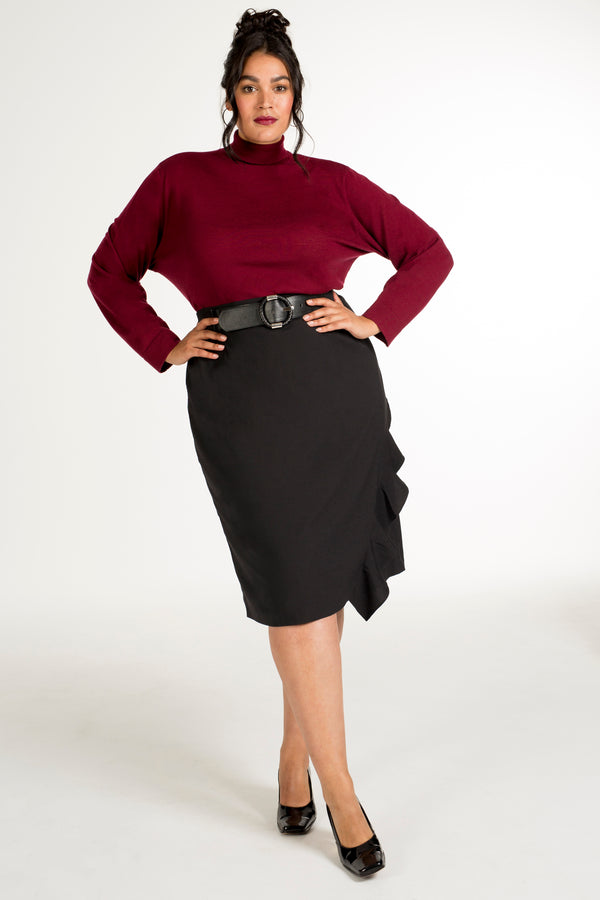 Women's plus-size designer fashion: ASSYM Asymmetrical skirt